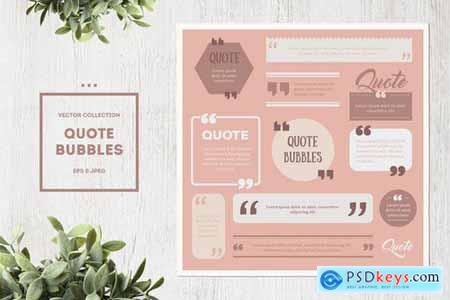 Quote Box Vector Set