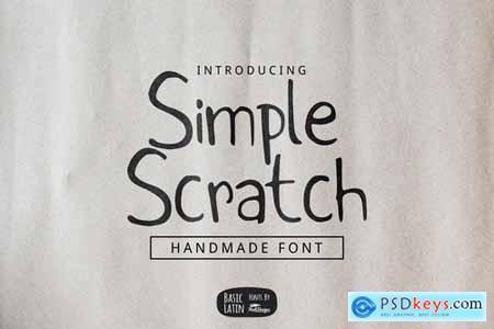 Simple Scratch Font