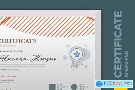 Vintage Geometry Certificate Diploma Template Pro