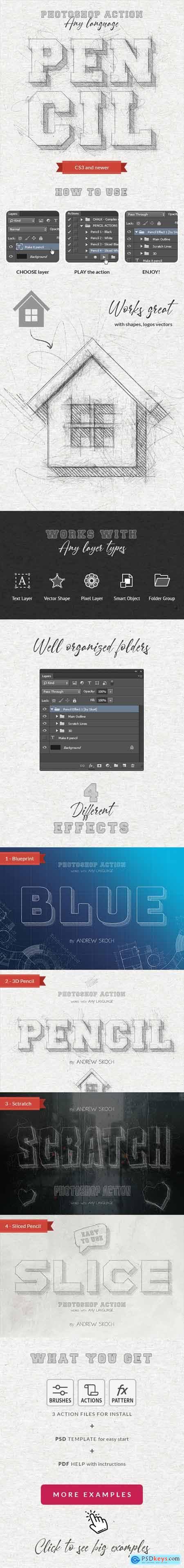 Pencil Sketch - Photoshop Action 25488367
