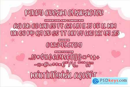 Pinky Cream - a Quirky Font