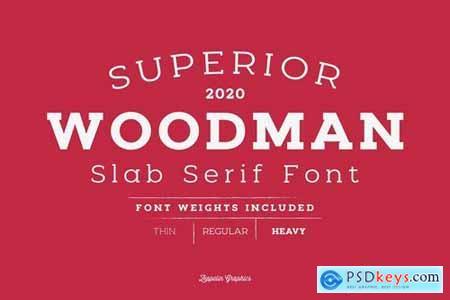 Woodman Slab Serif Font 4541069