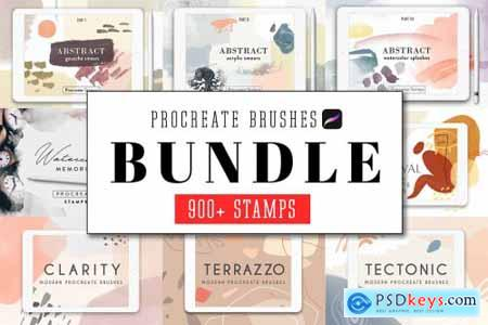 All Procreate Stamp Brushes Bundle 4515227