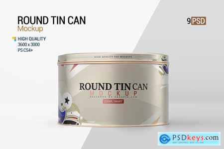 Round Tin Can Mockup
