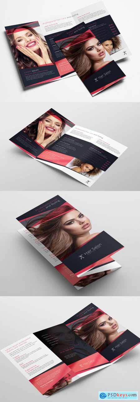 Trifold Brochure Layout for Beauty Businesses 322611317