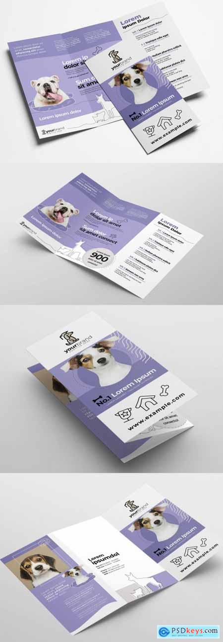 Trifold Brochure Layout for Pet and Vet Services 322611290