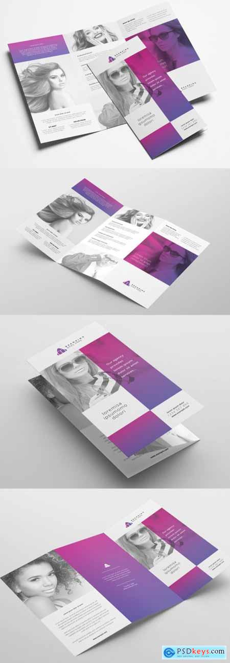 Trifold Brochure Layout with Modern Style 322611254