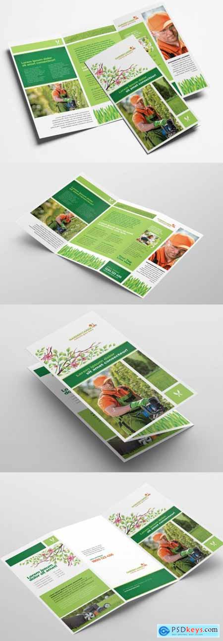 Trifold Layout for Gardening Landscape Services 322611212