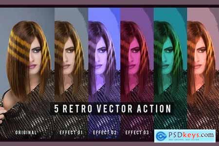 5 Retro Vector Action