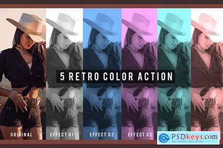 5 Retro Color Action