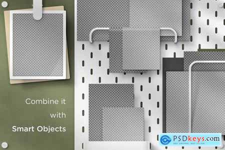Print-Ready A4 Pegboard Moodboard Scene Creator