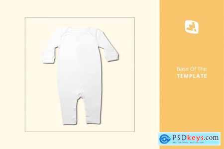 Kids Quarter Sleeve Romper Mockup 4426110