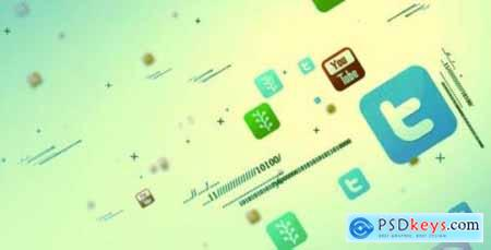 Social Media Multipal Icon Intro 3602090 Free Videohive