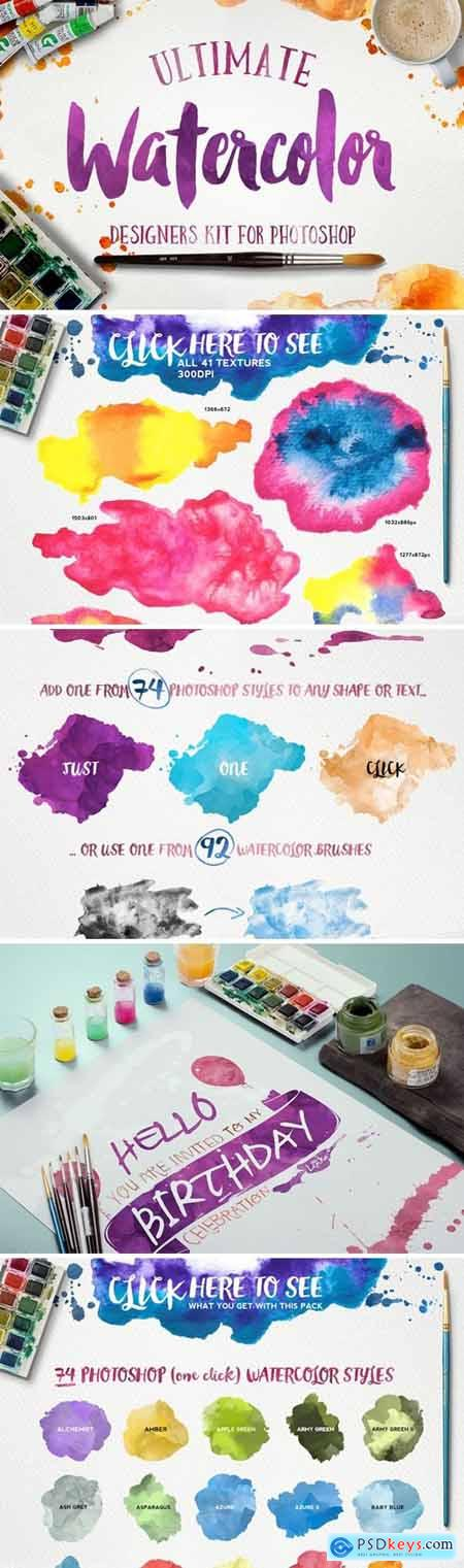 Watercolor KIT for Photoshop 223071