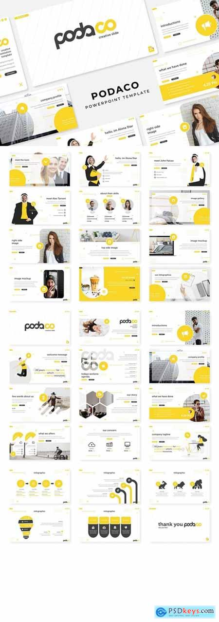 Podaco Powerpoint, Keynote and Google Slides Templates