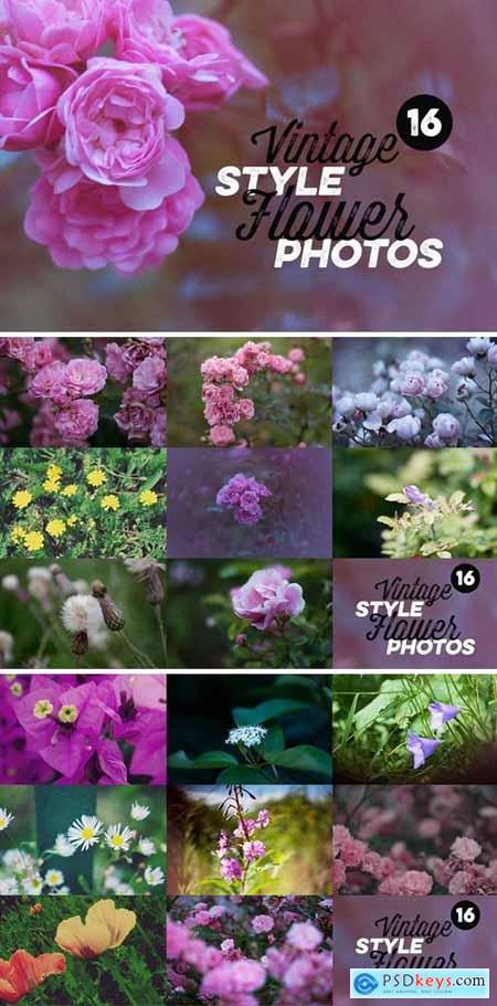 16 Vintage Style Flower Photos 302081