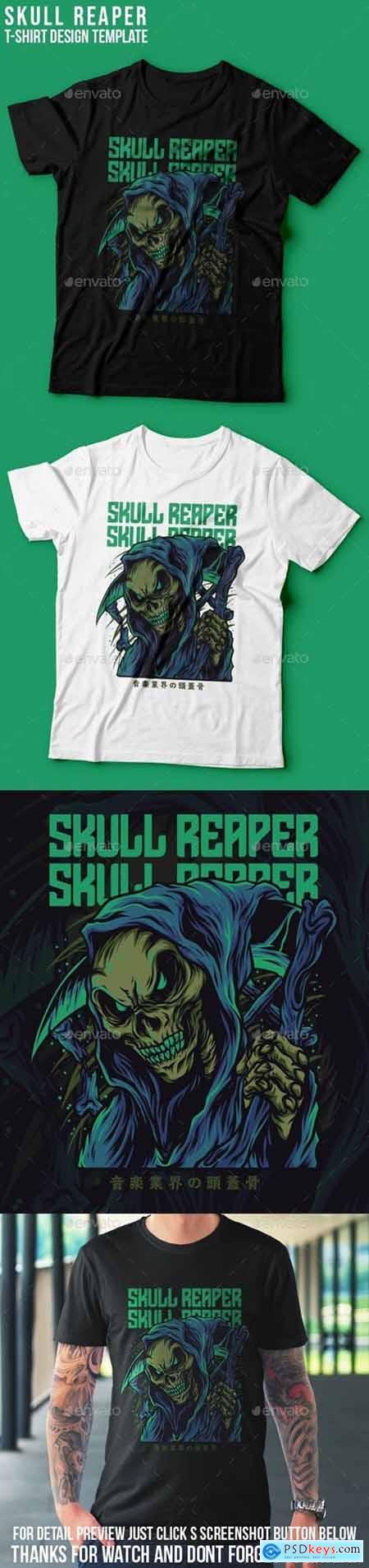 Skull Reaper T-Shirt Design 25672416