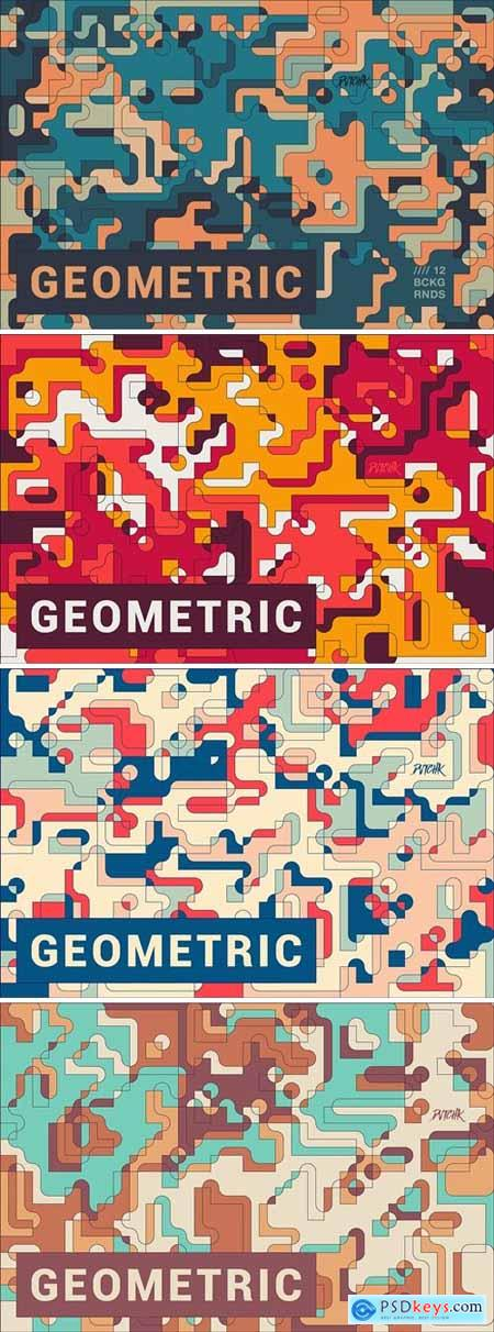 Geometric - Abstract Composition Backgrounds