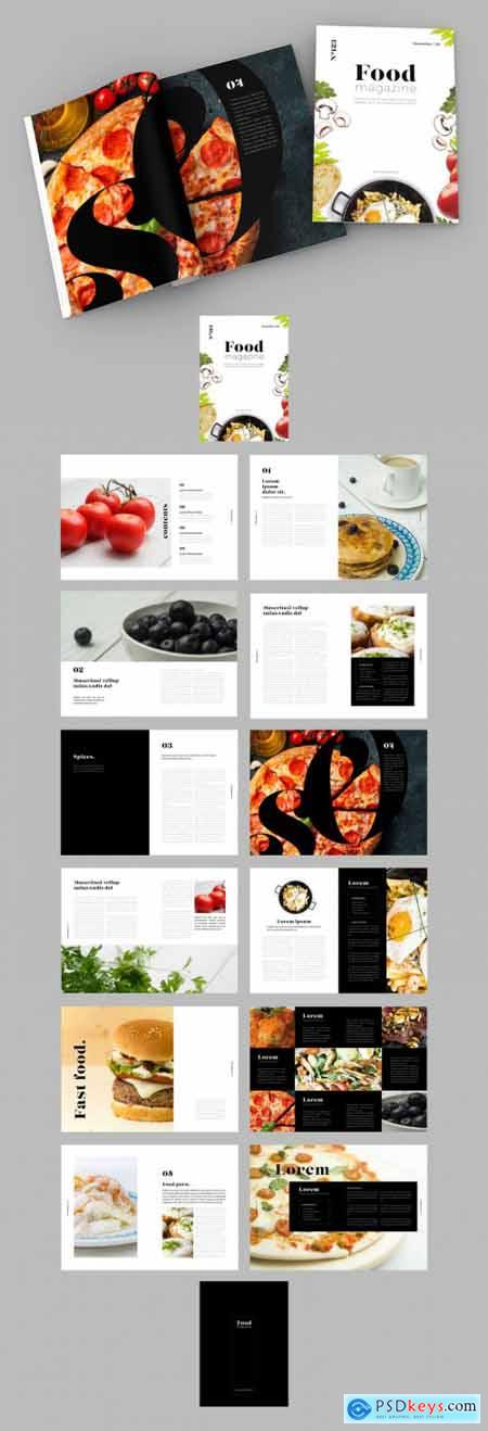 Black and White Layout with Food-Themed Images 322857464