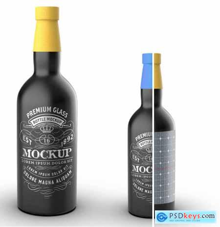 Liquor Bottle Packaging Mockup 322842996