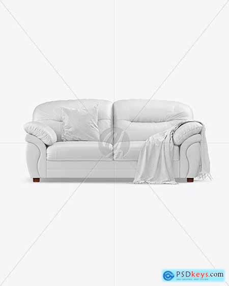 Couch with Pillow and Blanket Mockup 55757
