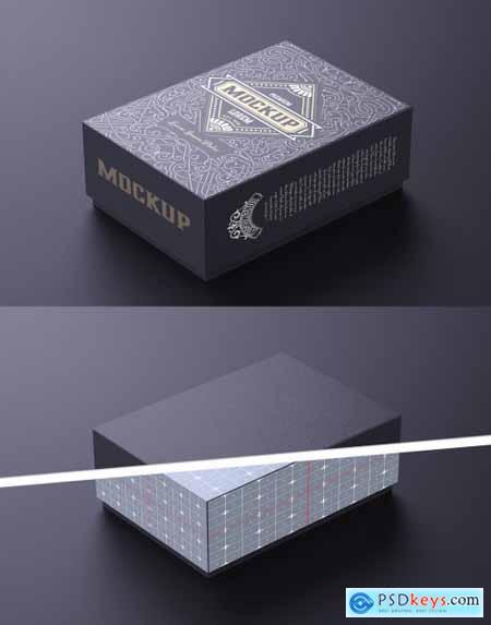 Small Cardboard Box Mockup 322842088