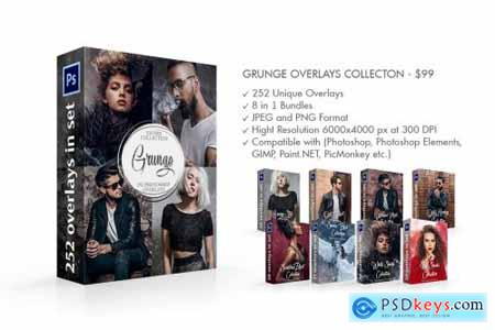 Grunge Overlays Collection 4367017