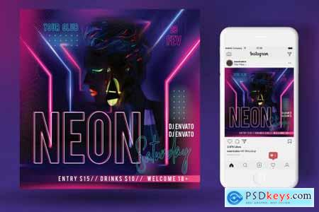 Neon Party Flyer 4553867