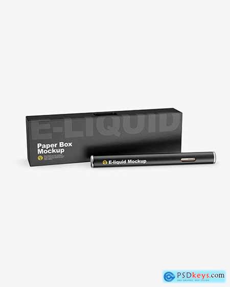 Opened Box w- Vape Pen Mockup 55857