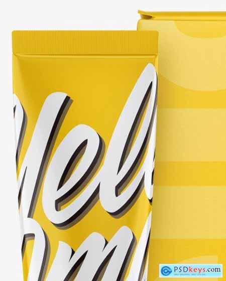 Glossy Cosmetic Tube w- Box Mockup 55809