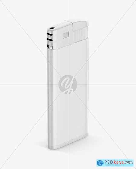 Glossy Plastic Lighter Mockup 55393