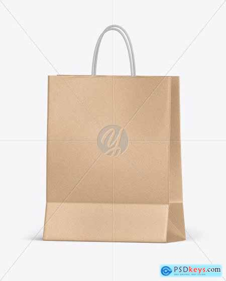 Kraft Shopping Bag w- Rope Handles Mockup 55839