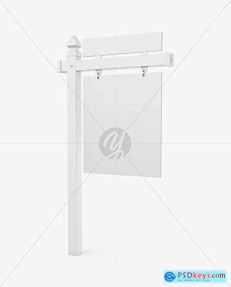 Realtor Sign Mockup - Half Side View 55802