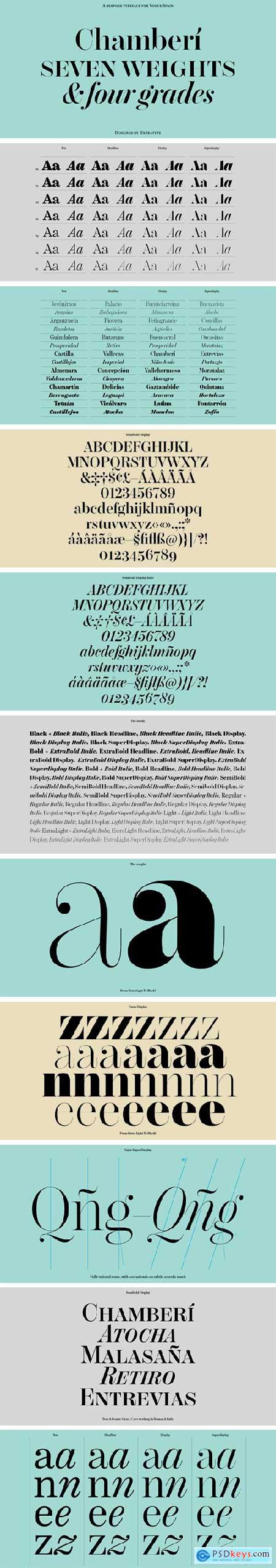 Chamberi Font Family