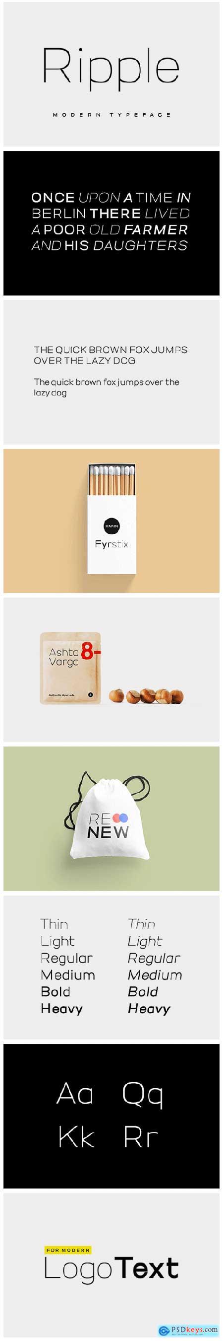 RIPPLE - Minimal & Modern Typeface 4569136