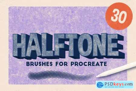 HALFTONE BRUSHES FOR PROCREATE 3628249