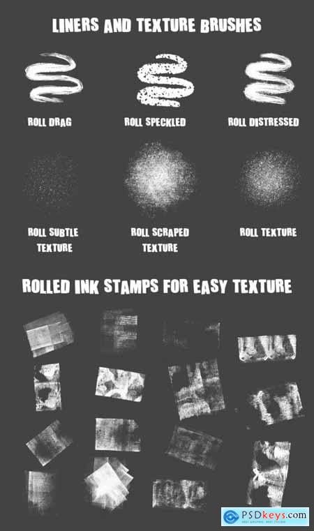 ROLLED INK BRUSHES FOR PROCREATE 5 3373758