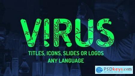 Virus titles, logo, icons reveal Instagram stories presets 25737875
