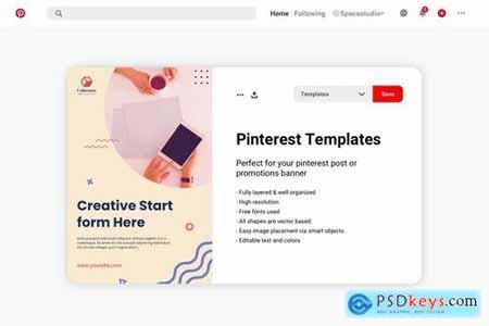 Pinterest Social Media Banner
