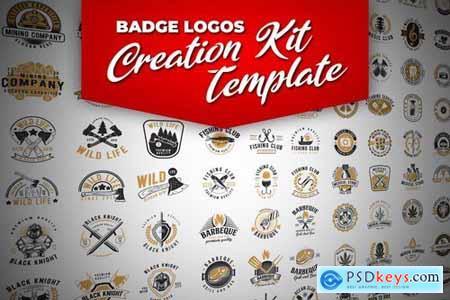 Retro Badge Logo Creation Kit