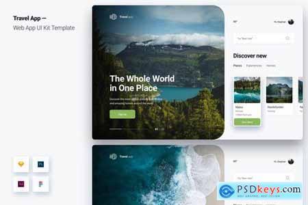 Travel App Web App UI Kit Template