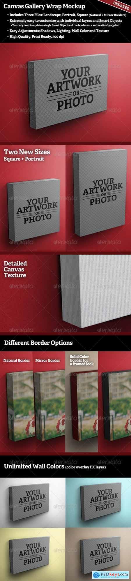 Canvas Gallery Wrap Mockup 350292