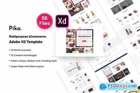 Pika - A Premium Multi Concept eCommerce Adobe XD