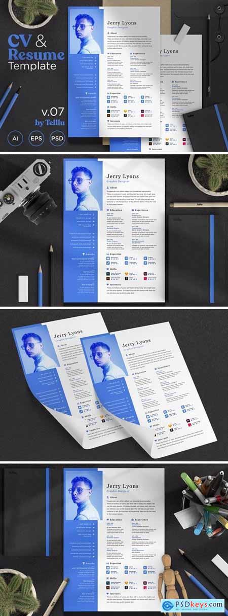 Resume CV v.07 Simple Minimalist