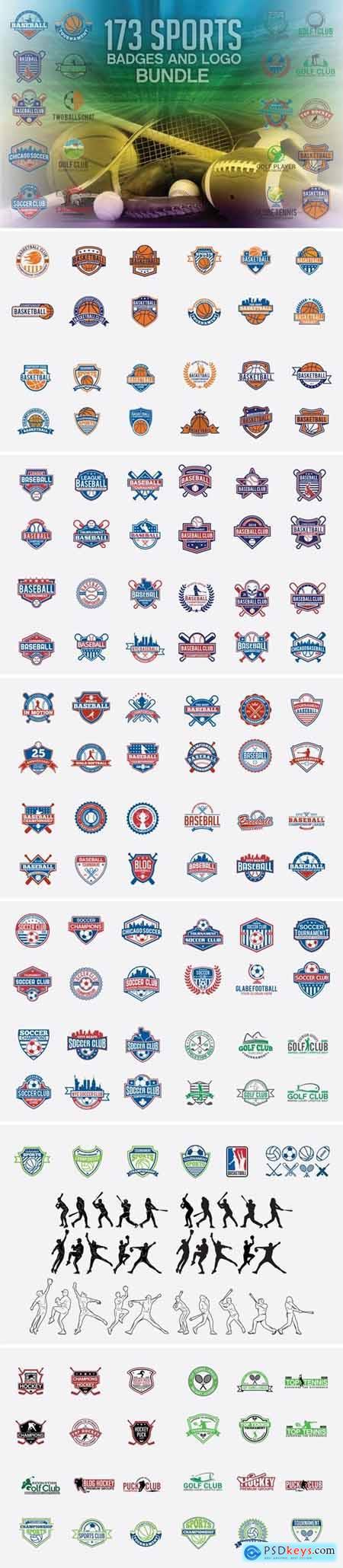 173 Sports Badges and Logo Bundle