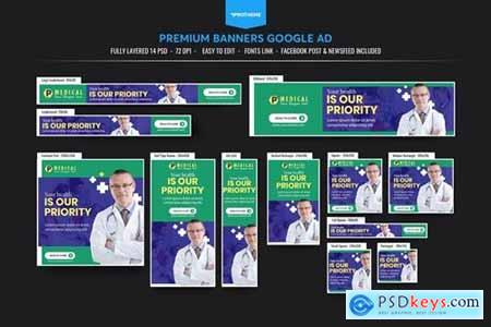 Medical Banners Ad Template