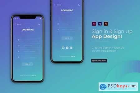 Loginpag Login - App Design Template