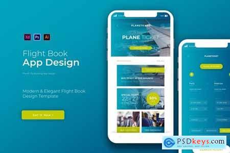 Flight Book - App Design Template