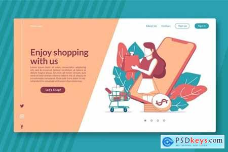 Enjoy Shopping with us - Landing Page GR