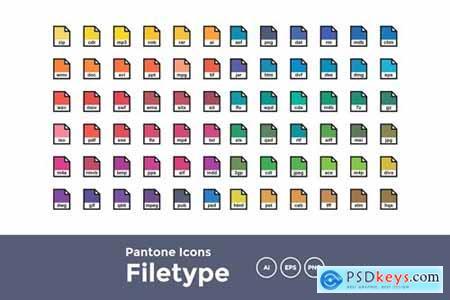 Pantone filetype icons